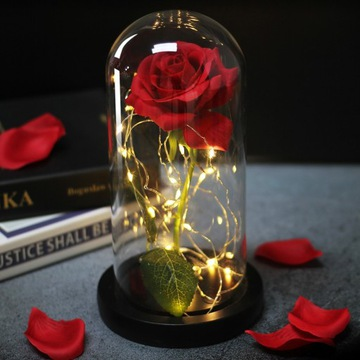 Czerwona róża w szkle !! DZIEŃ CHŁOPAKA !!