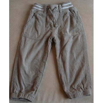 Spodnie sztruksowe Cool Club r. 86