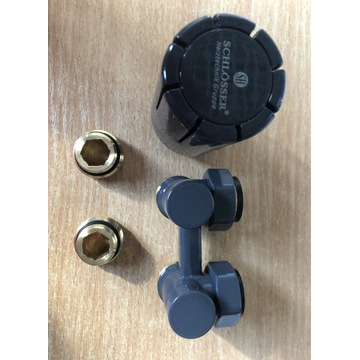 Zestaw termostatyczny kątowy3/4 SCHLOSSER ral 7024