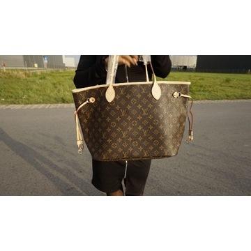 Shopper Louis Vuitton monogram skóra naturalna