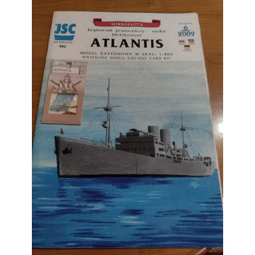 Model kartonowy JSC Atlantis i metalowe lufy