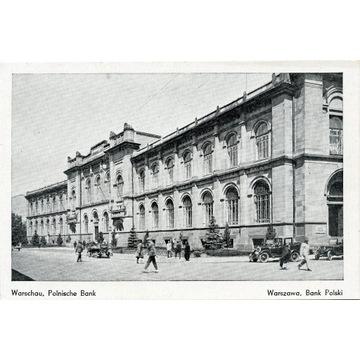 WARSCHAU. Polnische Bank- WARZSAWA.. okupacja GG