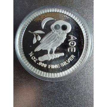 Atenska Sowa 1/4 Oz srebro próby 999.9
