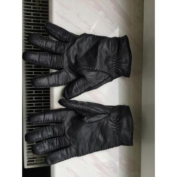 Rękawiczki skórzane zimowe Hugo Boss jak nowe
