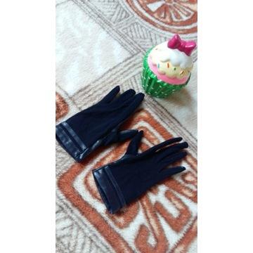 Rękawiczki damskie rozm.S granatowe