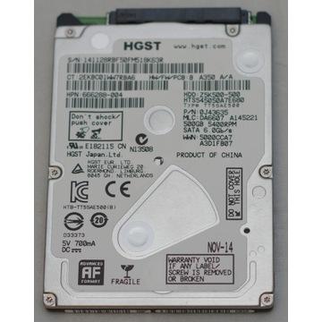 Dysk HGST 500GB stan bardzo dobry Z5K500-500