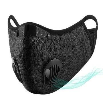 Maska antysmogowa z filtrem węglowym, wysyłka PL
