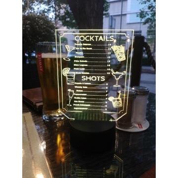 Lampka Led Twoje Menu Restauracja Bar Pub Wystrój