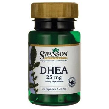 DHEA 25 mg 30 kapsulek SWANSON OBSERWUJ