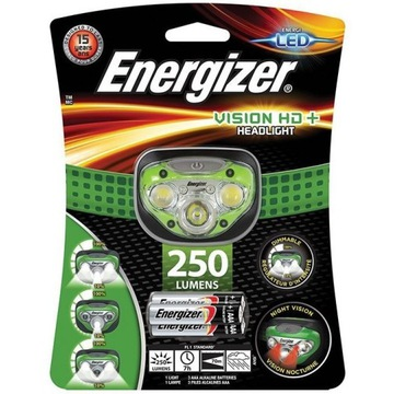 Latarka czołowa Energizer Vision HD+ Focus 250 lm