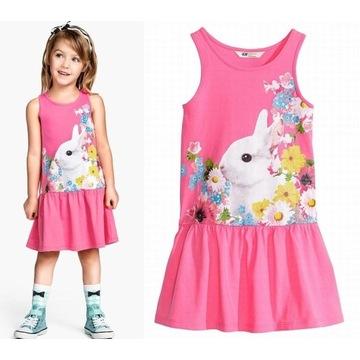 H&M dżersejowa sukienka 122 128