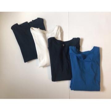H&M Bluzeczki T-shirt z dl rękawem 4 pack ___170