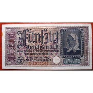50 RMk 1939-44  Seria C  Stan +++2