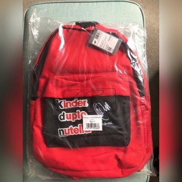 Czerwony plecak 4F kinder autograf Dudek
