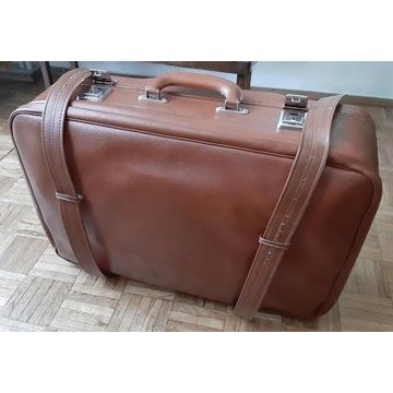 Zabytkowa walizka podróżna w kolorze brązowym