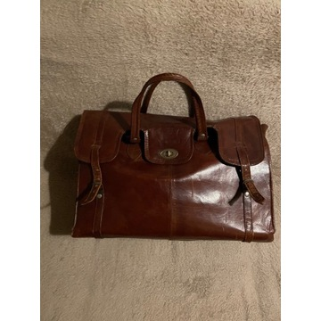 Skórzana torba vintage retro