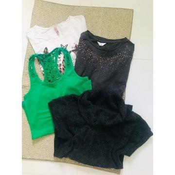 Zestaw paka ubrań damskich bluzka t-shirt S 36