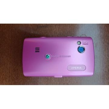 Telefon Sony - różowy, malutki wym 8,5 cm x 5,0 cm