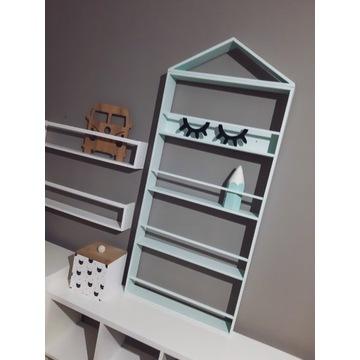 Biblioteczka półka na ksiażki dla dzieci skandi