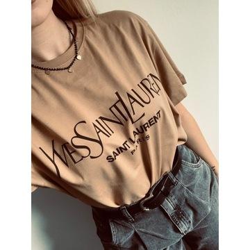 T-shirt YvesSaintLaurent M Beżowa
