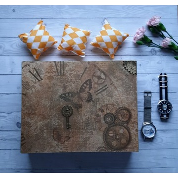 zegarek skrzynka na 12 zegarków handmade