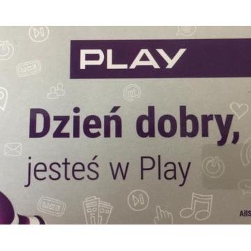Karta prepaid Play 170 zł na koncie Rok ważności
