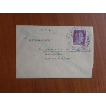UNIKAT list z okrętu  MS Wilhelm Gustloff