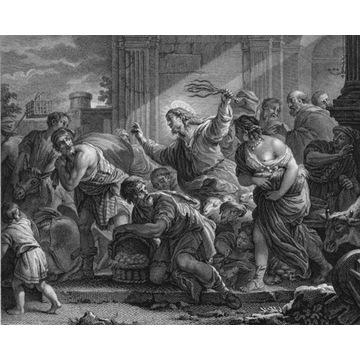 Wypędzenie przekupniów ze świątyni, 1790 Giordano