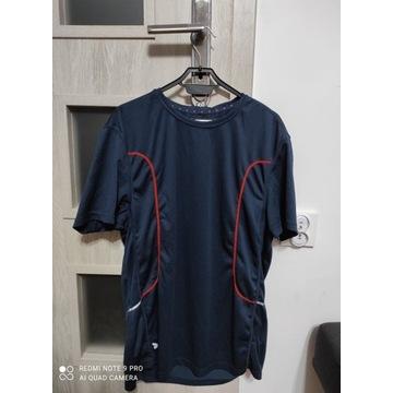 Męska sportowa koszulka granatowa, rozmiar L nowa
