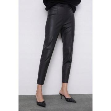 (40/L) ZARA/Skórzane legginsy/spodnie/rurki/NOWE