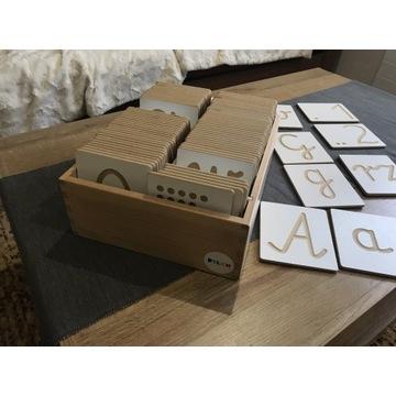 Alfabet drewniany dla dzieci + cyfry