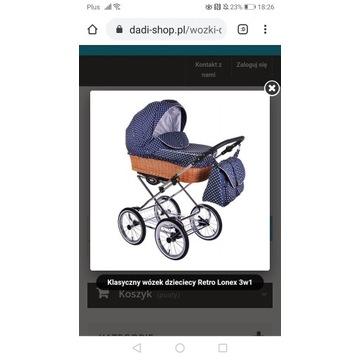 Wózek Retro dziecięcy