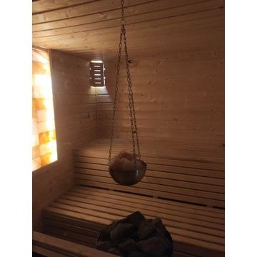 Sauna nawilżacz aromaterapia + bryłki solne