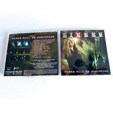 """SINNER - """"There Will Be Execution""""  CD"""