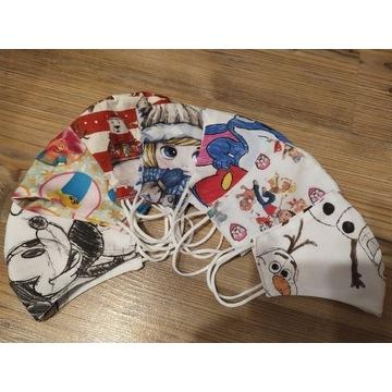 Maseczki dla dzieci Miki,Psi Patrol,Olaf, Trole