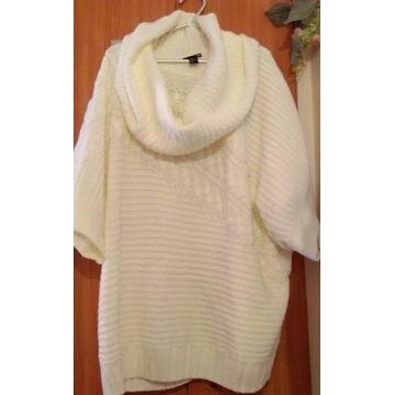 (44) H&M/ Ekskluzywny sweter z golfem, ponczo/NOWY
