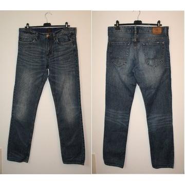 Męskie spodnie Jeansy, Bawełna Rozmiar W33 /36
