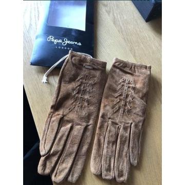 Rękawiczki Pepe Jeans XS nowe skóra okazja !!