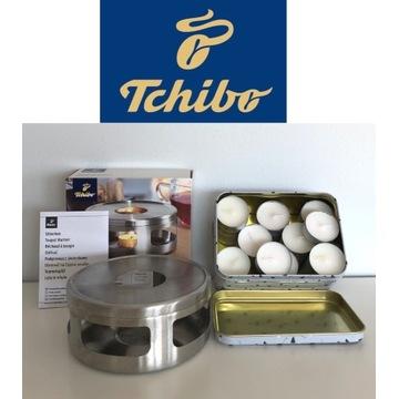Podgrzewacz do dzbanka Tchibo stal + 28 tealight