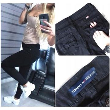 Spodnie jeansy dżins rurki wyższy stan tommy 34 xs