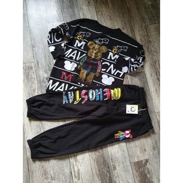 Spodnie dresowe Kosmiczny Miś UNIKATOWA kolekcja