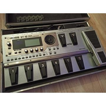 BOSS GT10 multiefekt procesor gitarowy twardy case