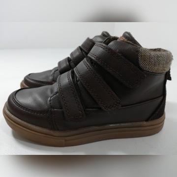Buty dla chłopca NEXT r.27 brązowe na rzepy