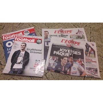 France Football x2 + L'Equipe x2