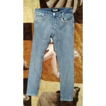 Męskie spodnie jeans niebieskie rozm. 30