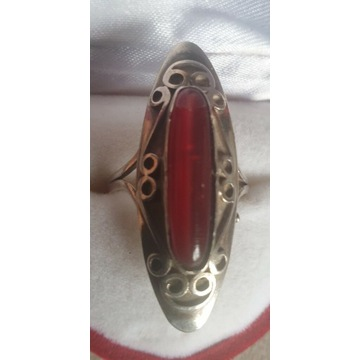 Pierścionek srebrny ORNO