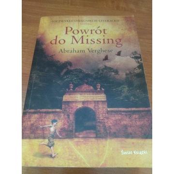 Książka Powrót do Missing