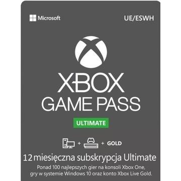 XBOX GAME PASS ULTIMATE 12 MIESIĘCY 1 ROK