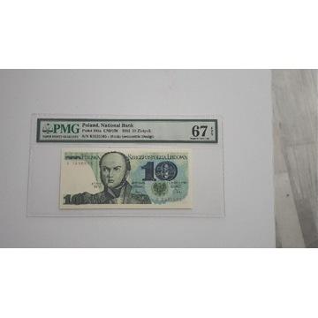 10 złotych 1982 PMG 67 EPQ