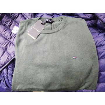 Nowy Sweter Polo Tommy Hilfiger Zielonyr.XL